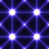 Fondo senza cuciture scuro con i punti collegati blu Immagini Stock