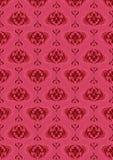 Fondo senza cuciture scuro rosa con il vecchio modello classico Fotografia Stock