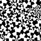 Fondo senza cuciture a strisce astratto del modello Elementi monocromatici a spirale Raggi in bianco e nero Illusione di moto Immagine Stock Libera da Diritti