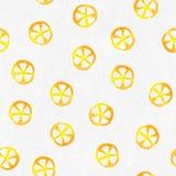 Fondo senza cuciture strutturato del modello della carta dei limoni dell'acquerello fotografia stock