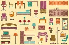 Fondo senza cuciture su un tema della mobilia Fotografie Stock
