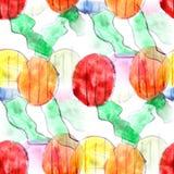 Fondo senza cuciture t del modello del fondo dei cerchi colorati del murale Fotografia Stock