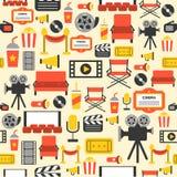 Fondo senza cuciture, tema del cinema Fotografia Stock