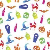 Fondo senza cuciture variopinto del modello di Halloween Royalty Illustrazione gratis