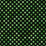 Fondo senza cuciture verde del motivo a stelle del pentagramma Immagini Stock