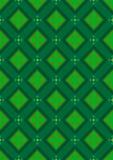 Fondo senza cuciture verde scuro con le tonalità verdi dei rombi Fotografie Stock