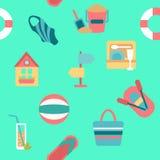 Fondo senza fine della spiaggia di estate Immagini Stock Libere da Diritti