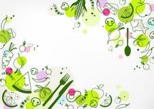 Fondo senza lattosio e senza glutine variopinto & sano dell'alimento - illustrazione illustrazione vettoriale