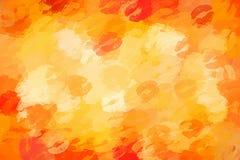 Fondo sexy e succoso arancio di bacio Immagini Stock