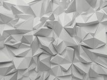 Fondo sfaccettato 3d astratto di bianco Immagini Stock