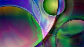 Fondo sferico astratto del prisma Fotografie Stock