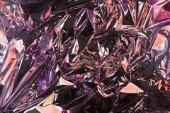 Fondo sgualcito astratto della stagnola Fondo della foto di lerciume Colori al neon colore del camaleonte fotografia stock