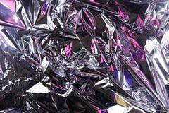 Fondo sgualcito astratto della stagnola Fondo della foto di lerciume Ombre rosa immagini stock