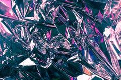Fondo sgualcito astratto della stagnola Fondo della foto di lerciume Ombre viola e di rosa fotografia stock