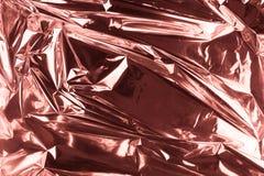 Fondo sgualcito astratto della stagnola Fondo della foto di lerciume Oro di Rosa immagine stock