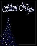 Fondo silencioso de la Navidad de la noche Foto de archivo