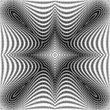Fondo simétrico monocromático de los puntos del diseño Fotografía de archivo