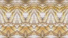 Fondo simmetrico astratto beige con i modelli dorati per pri Fotografia Stock Libera da Diritti