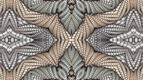 Fondo simmetrico astratto blu con i modelli dorati per il prin Fotografie Stock