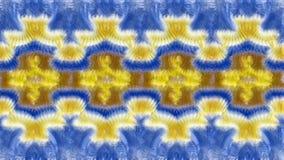 Fondo simmetrico astratto blu e beige per la stampa sui clo Fotografia Stock Libera da Diritti