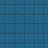 Fondo simmetrico astratto Mattonelle quadrate che consistono dei filamenti sottili torti illustrazione di stock