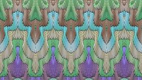 Fondo simmetrico astratto multicolore per la stampa sul clothin Immagini Stock