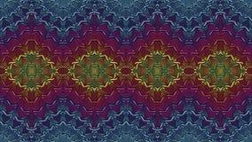 Fondo simmetrico astratto multicolore per la stampa sul clothin Fotografia Stock