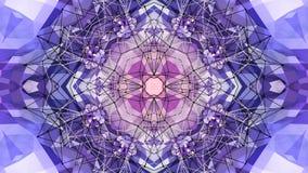 Fondo simple abstracto 3D en color púrpura de la pendiente, estilo polivinílico como fondo geométrico moderno o matemático bajo ilustración del vector