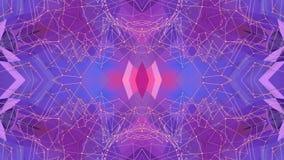 Fondo simple abstracto 3D en color púrpura de la pendiente, estilo polivinílico como fondo geométrico moderno o matemático bajo stock de ilustración