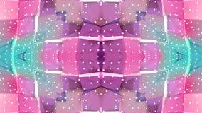 Fondo simple abstracto 3D en color rojo de la pendiente de la turquesa, estilo polivinílico bajo como fondo geométrico moderno o stock de ilustración