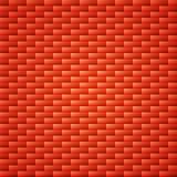Fondo simple anaranjado rojo de la pared de ladrillo Imagen de archivo