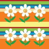 Fondo simple con las rayas y las flores Imágenes de archivo libres de regalías