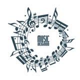 Fondo simple de la música con las notas y la clave libre illustration