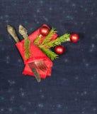 Fondo simple de la Navidad para las postales del vintage Foto de archivo libre de regalías