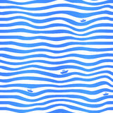 Fondo simple ondulado de las rayas azules con poco Imágenes de archivo libres de regalías