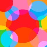 Fondo simple y colorido de los círculos ilustración del vector