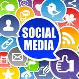 Fondo social de los media Imágenes de archivo libres de regalías