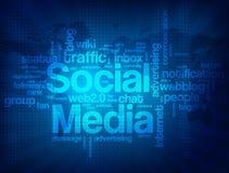 Fondo sociale astratto di media Fotografia Stock Libera da Diritti