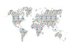 Fondo sociale della mappa di mondo di media Fotografie Stock