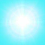 Fondo soleado azul Imágenes de archivo libres de regalías