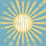 Fondo soleado del grunge del vintage Fotografía de archivo