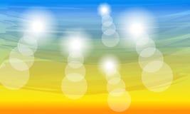 Fondo soleado del verano del color Foto de archivo