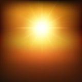 Fondo soleggiato caldo Fotografia Stock