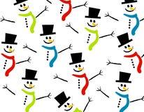 Fondo sonriente del muñeco de nieve Imagenes de archivo
