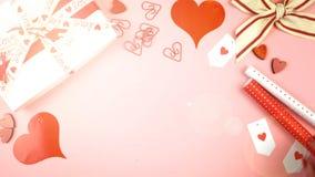 Fondo sopraelevato di San Valentino felice con il chiarore della lente immagine stock libera da diritti