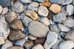 Fondo sopraelevato di struttura delle rocce Fotografia Stock Libera da Diritti