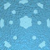 Fondo sotto forma di sfera blu con i fiocchi di neve Fotografia Stock Libera da Diritti