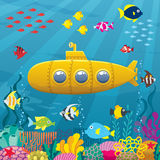 Fondo sottomarino Fotografia Stock Libera da Diritti