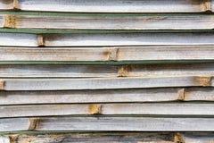Fondo spaccato del vecchio bambù Fotografia Stock Libera da Diritti