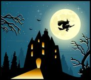 Fondo spaventoso di Halloween royalty illustrazione gratis